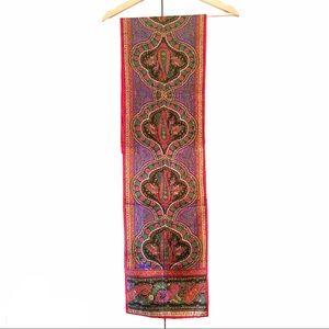 Bill Blass boho vintage paisley silk scarf